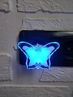 """LED Ночник """"Бабочка"""" (синий, белый)"""