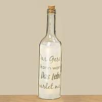 Светодиодная бутылка ночник Фанни прозрачное стекло h30см 8011100