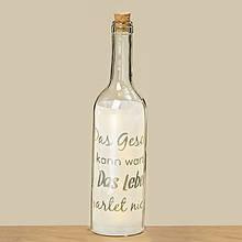Світлодіодна пляшка нічник Фанні прозоре скло һ30см 8011100
