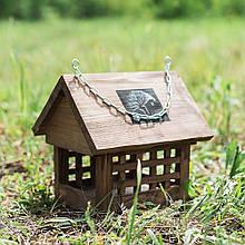 "Кормушка для птиц деревянная ""Клетка"" 25 см D9014"