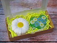 Подарочный оригинальный набор сувенир ручной работы Ромашковое сердце
