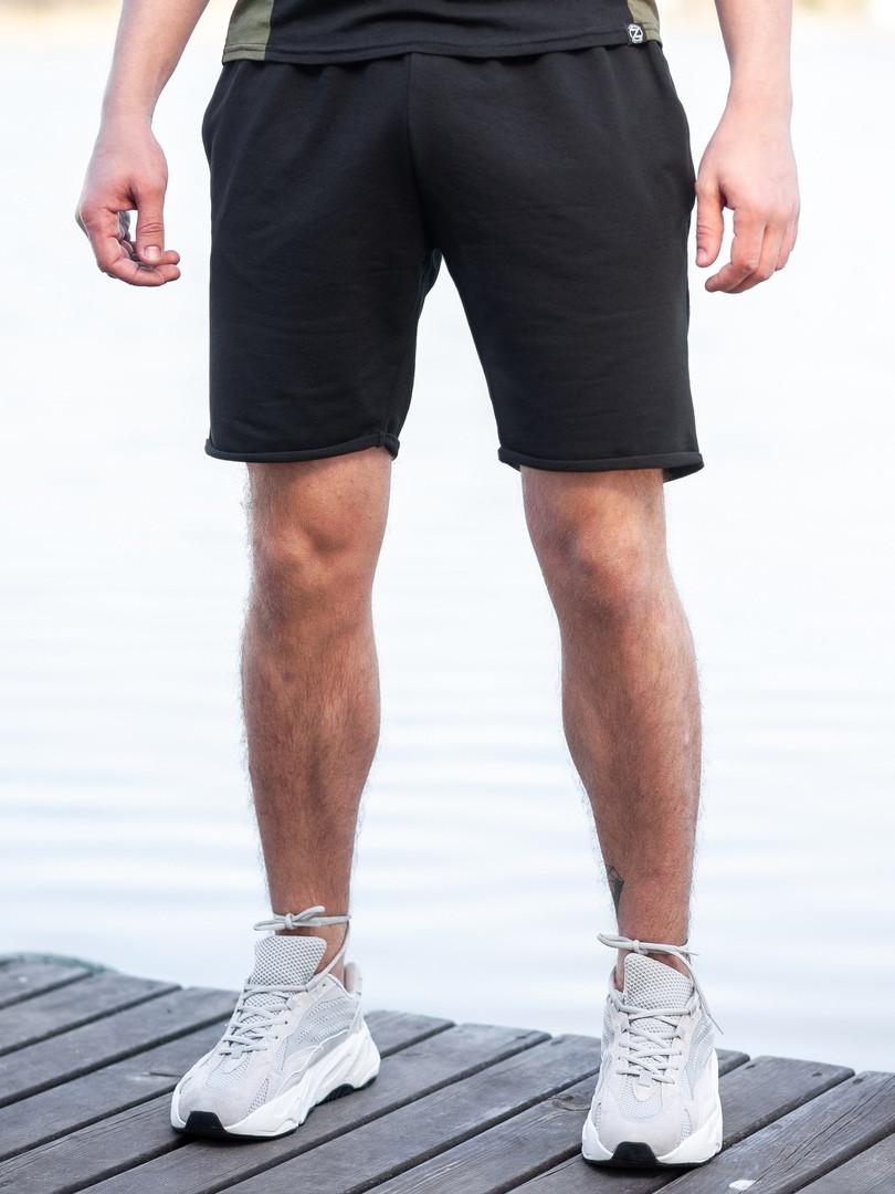 Мужские спортивные шорты BEZET Tzar black '19, черные спортивные шорты, классические черные шорты