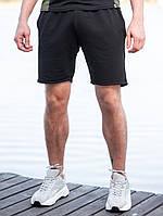 Мужские спортивные шорты BEZET Tzar black '19, черные спортивные шорты, классические черные шорты, фото 1