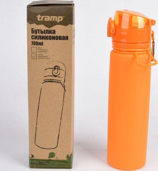 Бутылка силиконовая Tramp 700ml TRC-094-orange
