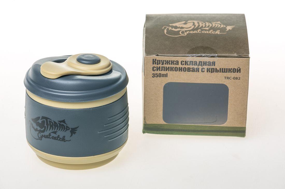 Кружка складная силиконовая Tramp с крышкой 350ml (TRC-082-black)