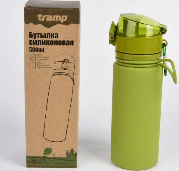 Бутылка силиконовая Tramp 500 мл TRC-093-olive
