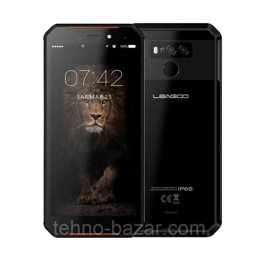 Защищенный смартфон Leagoo XRover C 2/16gb ip68 Black MediaTek MT6739V/WW 5000 мАч