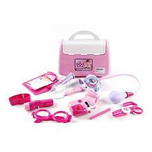 KM6010B Доктор 6010В  11 предметов,стетоскоп, шприц,ножницы,…в чемод.21*18*9см