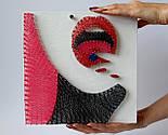 Світанок у горах пано в техніці стрінг-арт String Art, фото 7