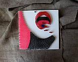 Світанок у горах пано в техніці стрінг-арт String Art, фото 10