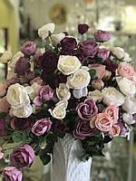 Цветы искусственные Роза кустовая (засушенный эффект)