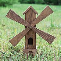 Мельница деревянная декоративная садовая 80 см D9002 декор для сада