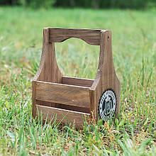 Пивной ящик деревянный для цветов 32 см D9011