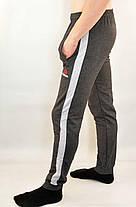 Брюки спортивные мужские трикотажные под манжет с широкой лампасой Reebok, фото 3