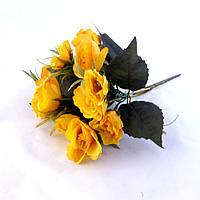 Розочка букет с травкой 30 см ткань 783 783 искусственные цветы
