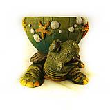 Черепаха кашпо цветная гипс СГ050 цв, фото 2