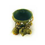 Черепаха кашпо цветная гипс СГ050 цв, фото 3