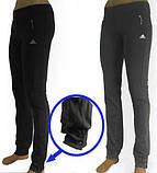 Спортивные брюки женские (эластан) синие, фото 3
