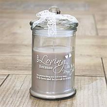 Декоративна свічка Кохання h14d8см 3695500