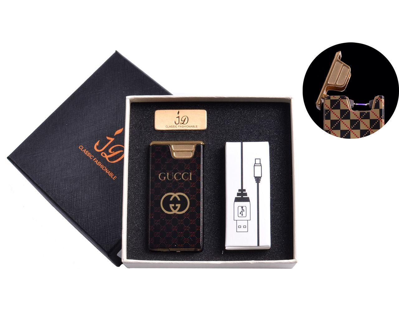 USB зажигалка в подарочной упаковке (Электроимпульсная) №4767-1