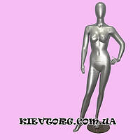 Манекен женский серебрянный