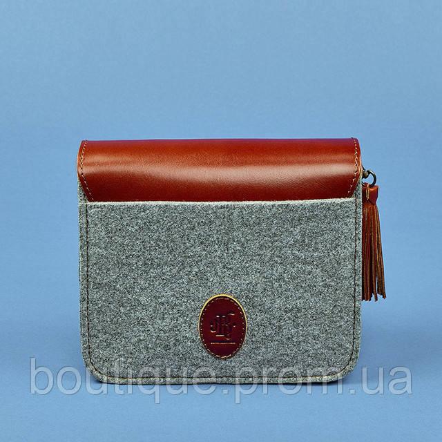 a0bd3e264462 Бохо-сумка через плечо BlankNote Лилу Фьорд Коньяк фетр + кожа BN ...