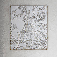 Об'ємна Картина Париж КР 917 золото