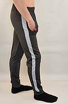 Штани спортивні чоловічі трикотажні під манжет з широкою лампасой Reebok, фото 3
