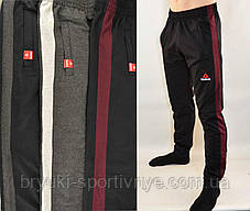 Штани спортивні чоловічі трикотажні під манжет з широкою лампасой Reebok, фото 2