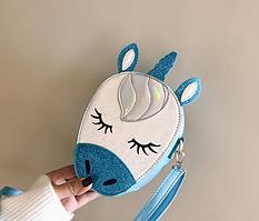 Сумочка Единорог  синяя