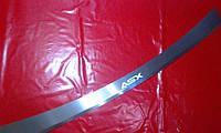 Накладка на задний бампер с загибом для Mitsubishi ASX, Митсубиси АСХ