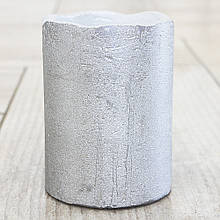 Світлодіодна свічка нічник сріблястий віск h10d7.5см 8323800