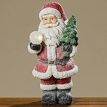 Led каганець Санта кольорова кераміка һ51см 1008283