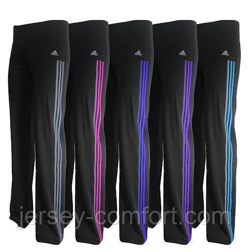 Спортивные брюки  женские (эластан). Мод. 1036. цвет лампас в ассортименте