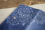 Кошелёк Цветок синий 9.5*19см 06-11С, фото 2