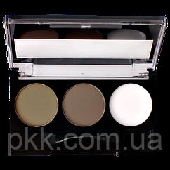 Тени-корректор для бровей LN Professional Beauty Express Brow Shadows двухцветные матовые с воском 12 г № 01