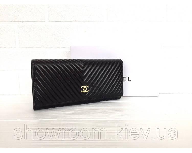 Женский кожаный брендовый кошелек (3725) black