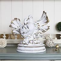 Фигура пара голубей 20 см СП303-2 золото статуэтка голуби