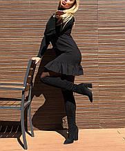 Платье женское черное на молнии