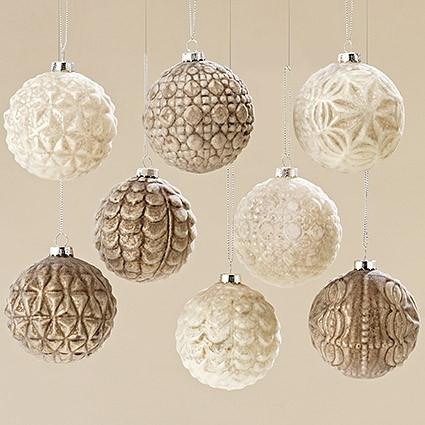 Набор новогодних шаров из 8 шт стекло d8см 1007164