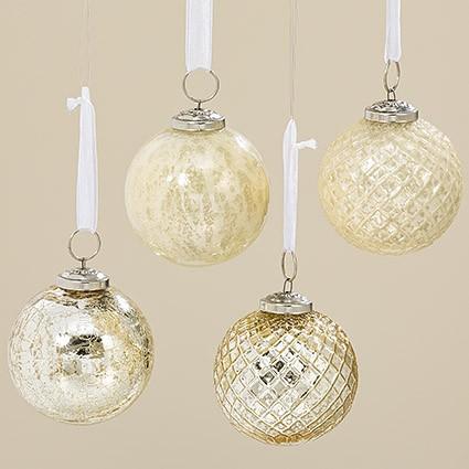 Подвесной шар набор из 4х шт золотое стекло d8см 1008025