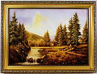 Картина Пейзаж П-155 40*60 с янтарем