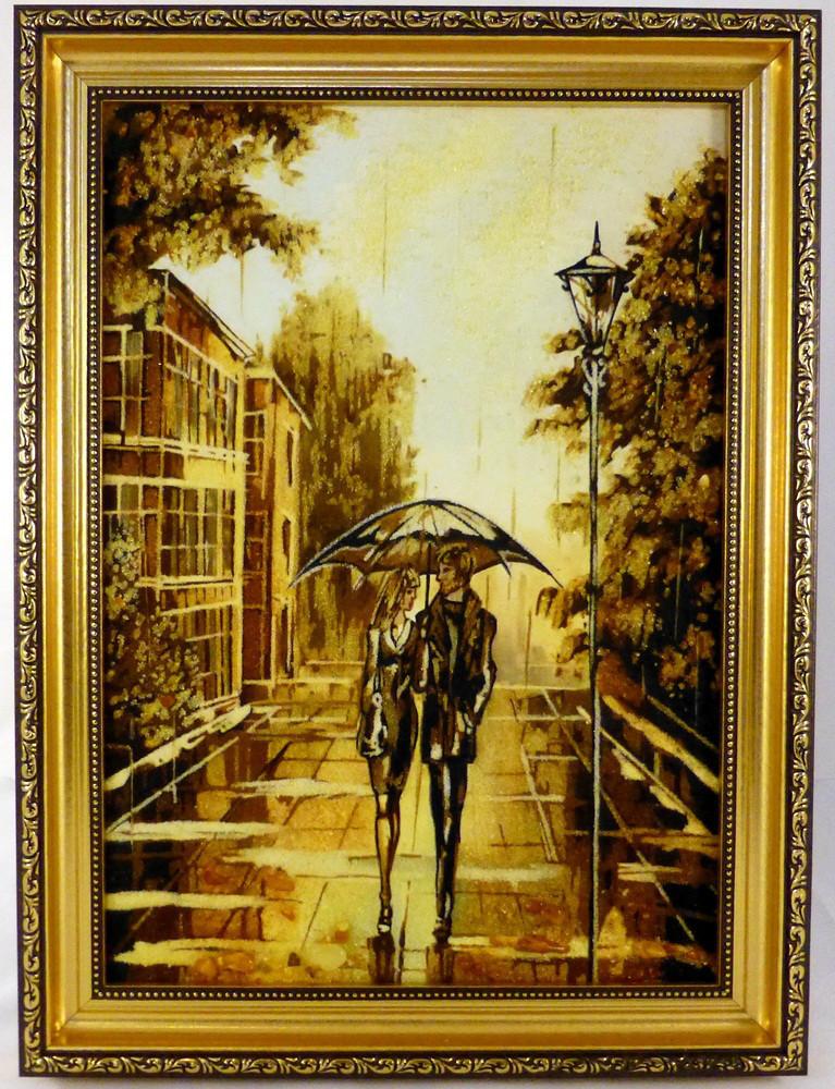 Картина Пейзаж П-708 40*60 с янтарем