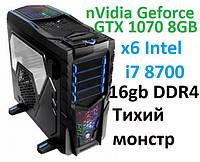 Intel Core i7 8700 Geforce GTX 1070 8GB 1000 GB Системный блок