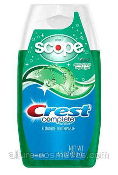Зубная паста Crest Complete Multi-Benefit + Scope Liquid Gel Toothpaste Minty Fresh 130гр