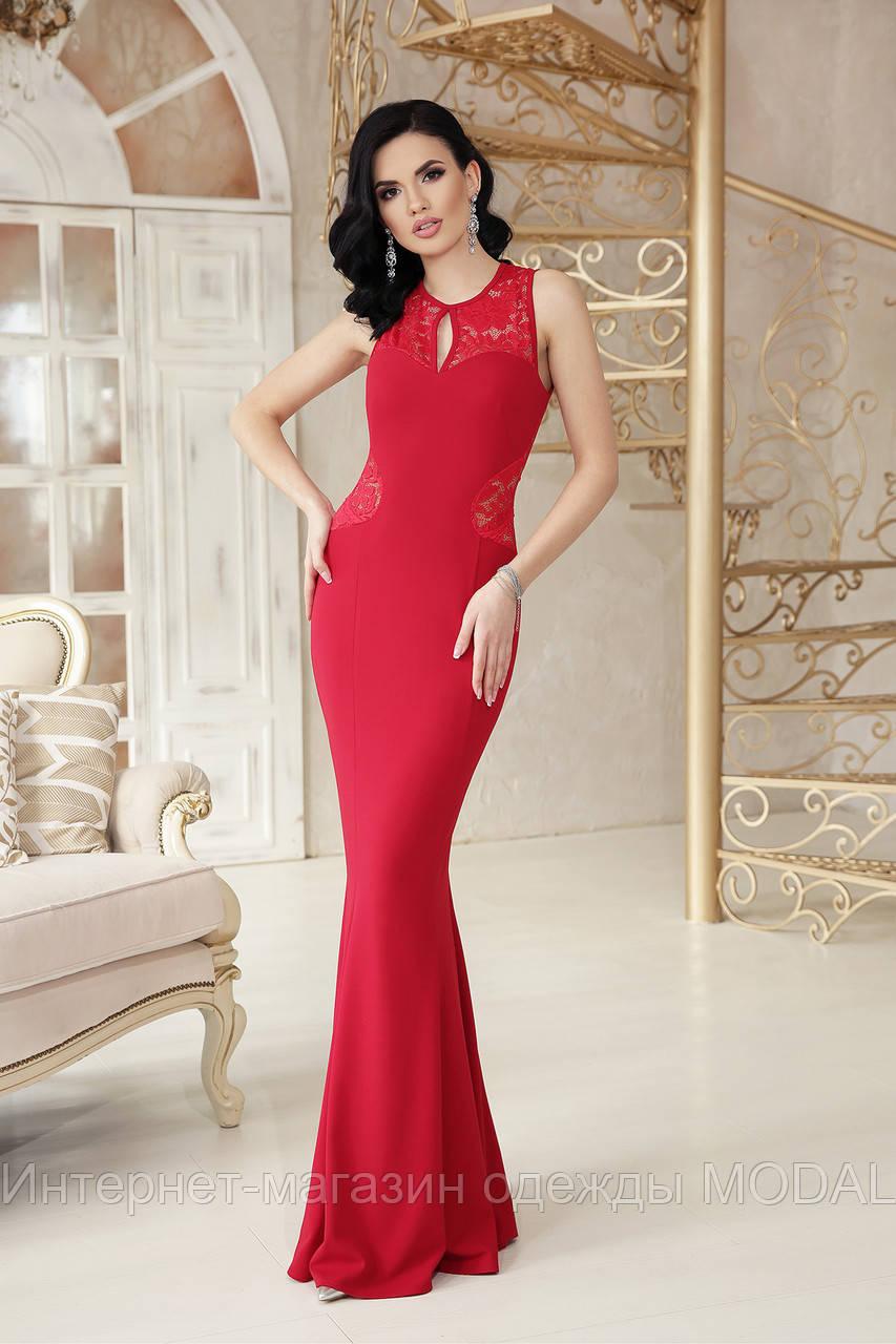 b3d552fcfed Красное вечернее платье в пол - Интернет-магазин одежды MODAL в Киеве