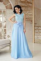 Голубое вечернее платье на выпускной