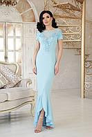 Вечірню сукню блакитного кольору, фото 1