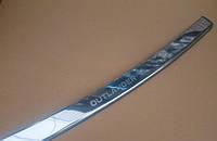 Накладка на задний бампер с загибом для Mitsubishi Outlander XL, Митсубиси Аутлендер ХЛ 2007-2012 г.в.