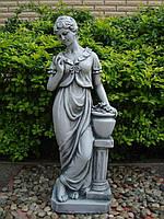 Садовая фигура скульптура для сада Дама у колоны 31.5x21x85cm SS12158-58 статуя